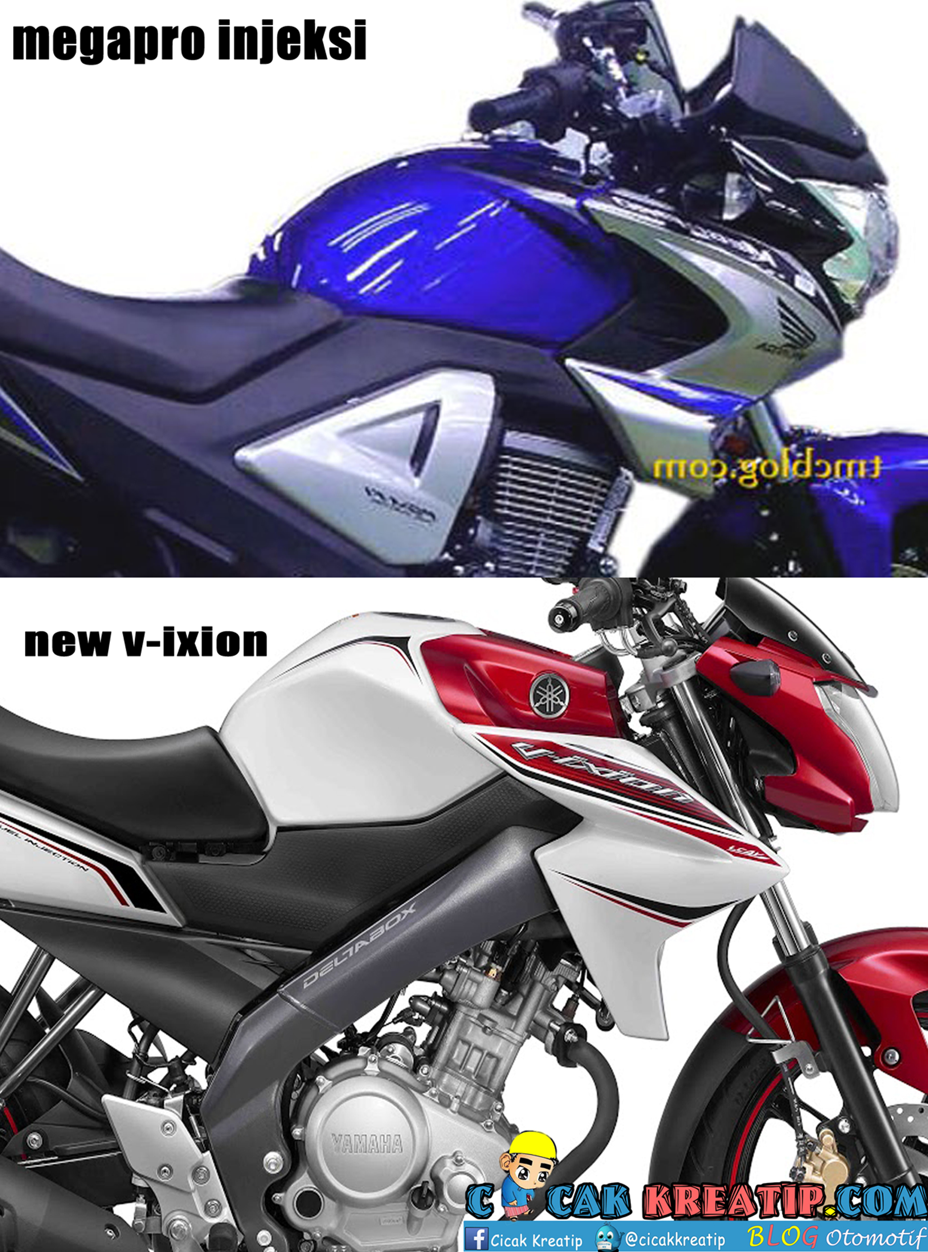 New megapro Fi & New V-ixion
