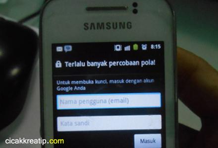 Cara Riset Hp Samsung Android Jika Terkunci Karena Terlalu Banyak