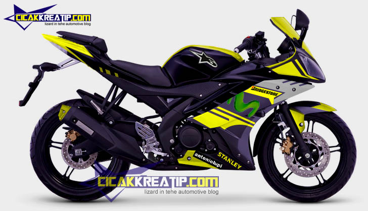 Modif Yamaha Yzf R15 Black Combined With Yellow Color