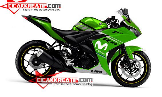 modif yamaha r25 hijau-cicakkreatip