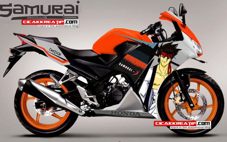 cbr 150r samurai edition-putih orange
