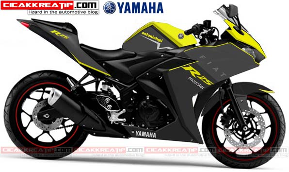 yamaha r25 modif abu abu kombined yellow