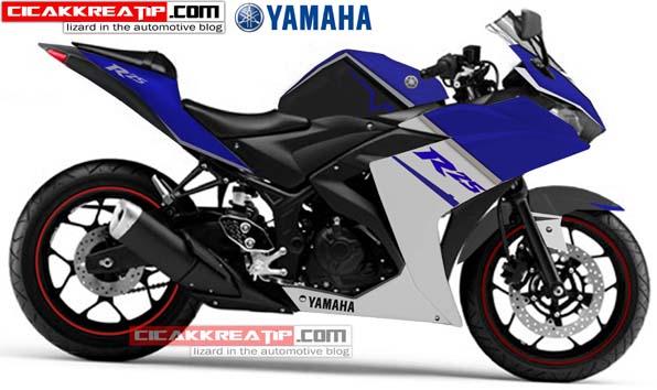 yamaha r25 modif biru