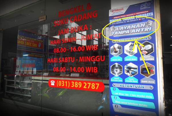 baner service tanpa antri di bengkel resmi yamaha jatim2