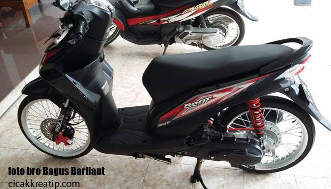 Modif Honda Beat Fi Warna Hitam Pakai Velg Tdr Dan Ban