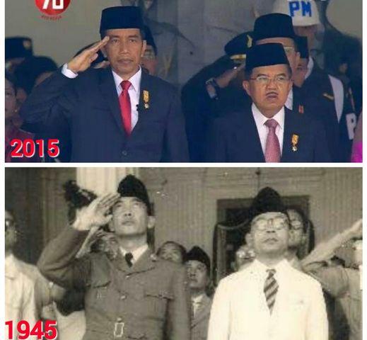 jusuf kalla tidak hormat ketika upacara hut ri ke 70