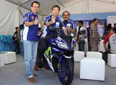 R15 Movistar Yamaha MotoGP with Yamaha Indonesia management