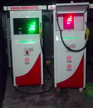 pompa bensin eceran elektrik