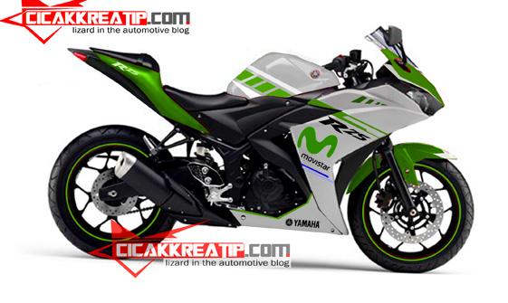 modif yamaha r25 hijau putih-cicakkreatip