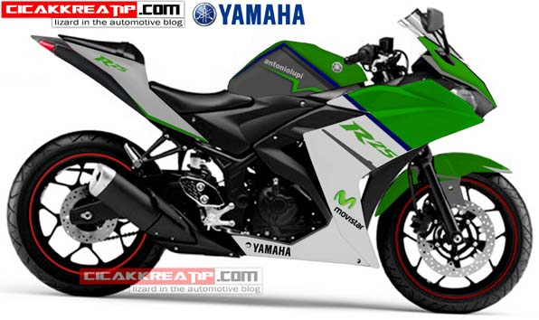 yamaha r25 modif hijau